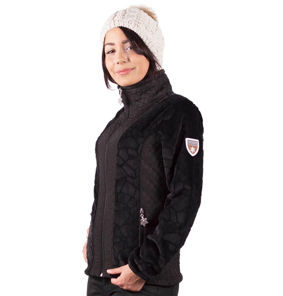 veste femme polaire VIENNE noir pl