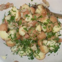 french potato salad with wine
