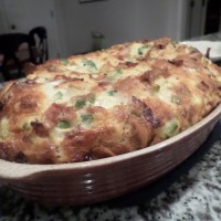 Bagel breakfast casserole