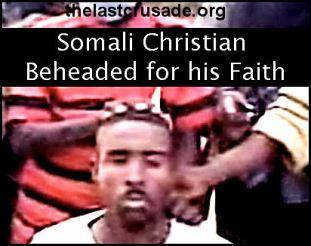 christian Somali beheaded