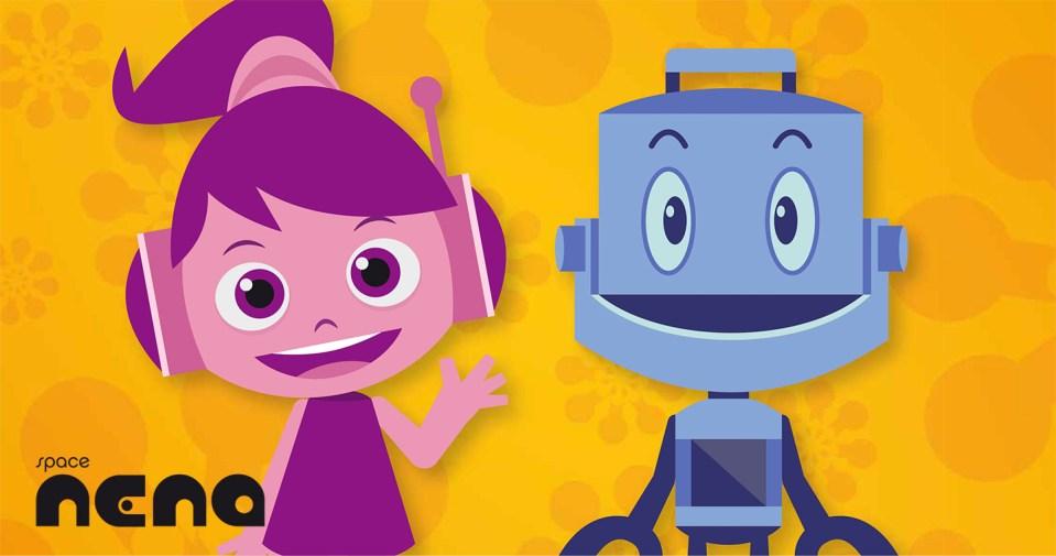 space nena, serie 2d, juego libro, interactivo, ilustración, flash, serie infantil, serie educativa, educativo, entretenimiento, ocio, aprendizaje, dibujos animados, cartoon, espacio, nave, planeta, didáctico, app, tablet, móvil, phone, robot, diversión, niños, infantil