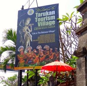 Mas Tarukan tourist sign