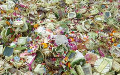 What do I do if I step on an offering? Balinese Canang Sari/offerings on the street