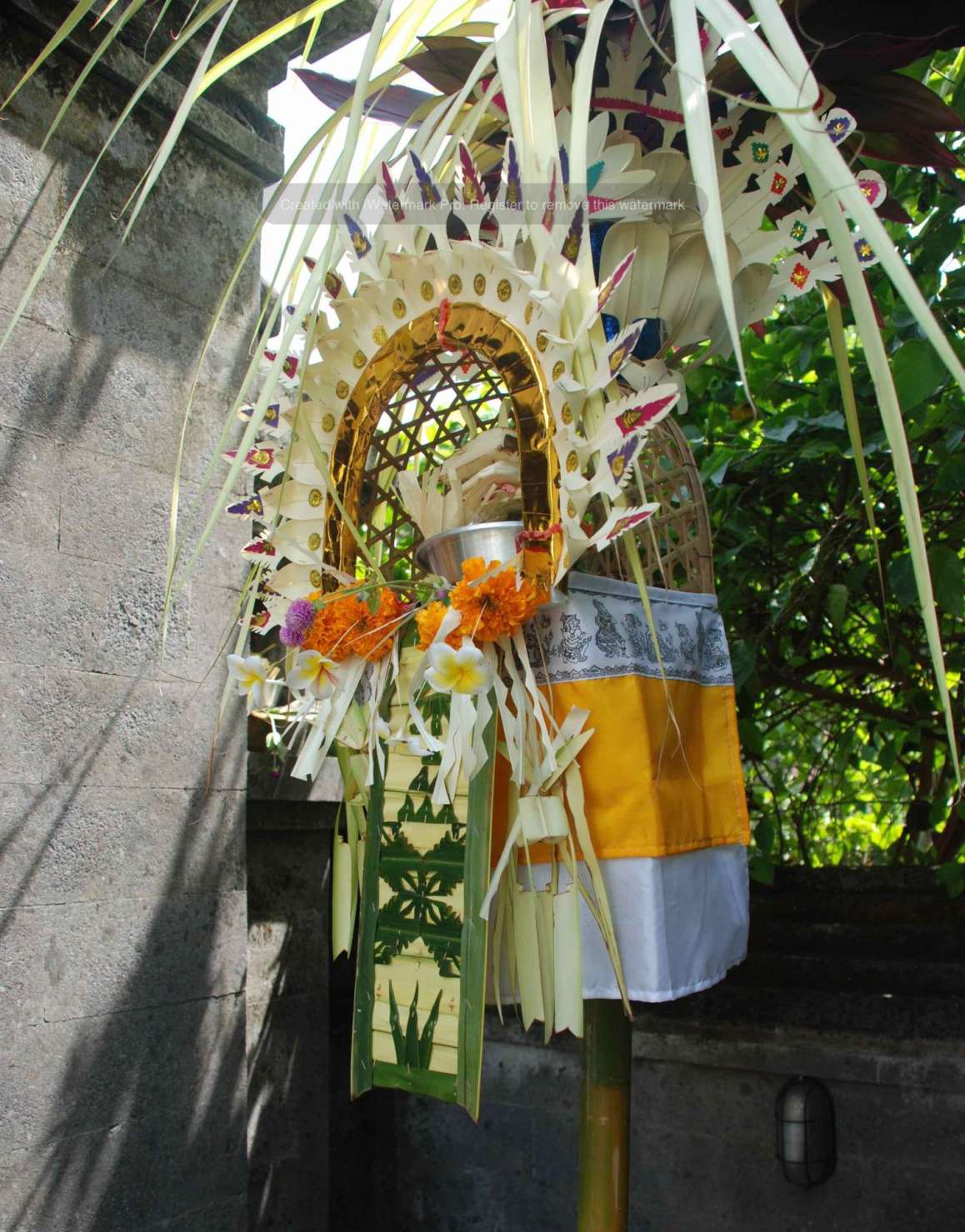 Penjor for Galungan and Kuningan at Angel House Ubud