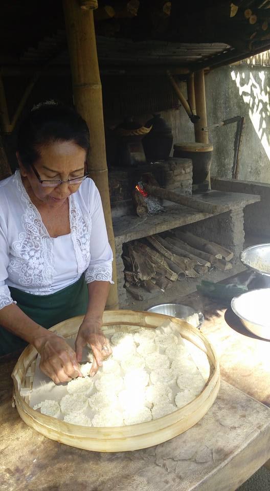 Balinese rice crackers
