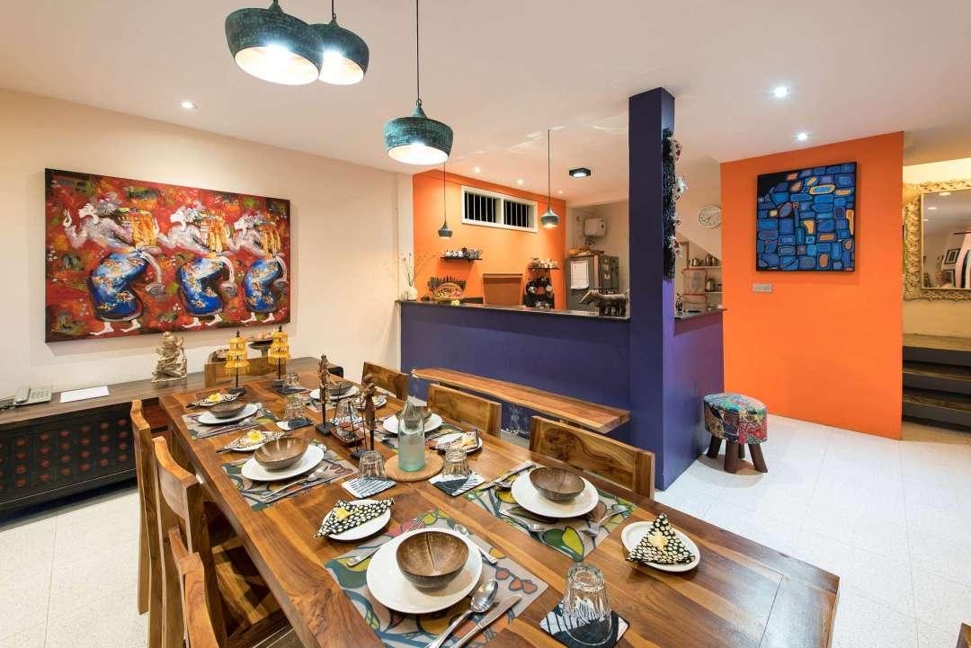 Dining Area inside main villa