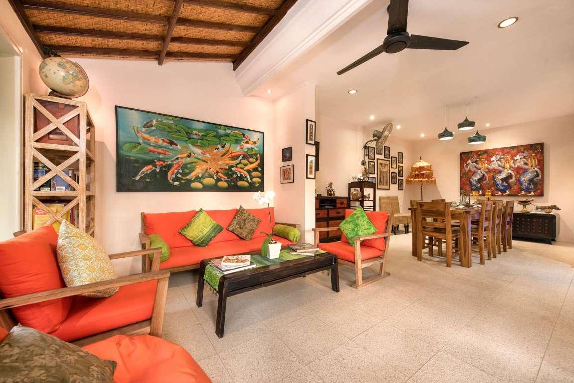 Inside main villa