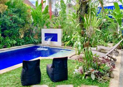 Relax in our tropical garden.