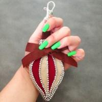 Free DIY Tutorial : Christmas Ornament / Bag Charm