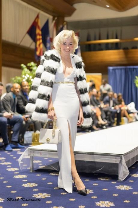 Angelica Ferrer in fashion night Washington DC