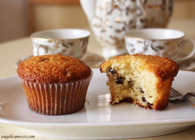 muffin al cocco gocce di cioccolato