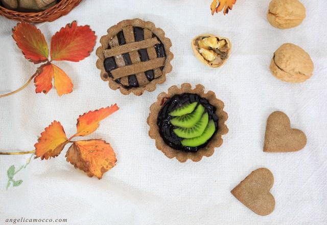 pasta frolla alla carruba senza glutine per biscotti e crostate