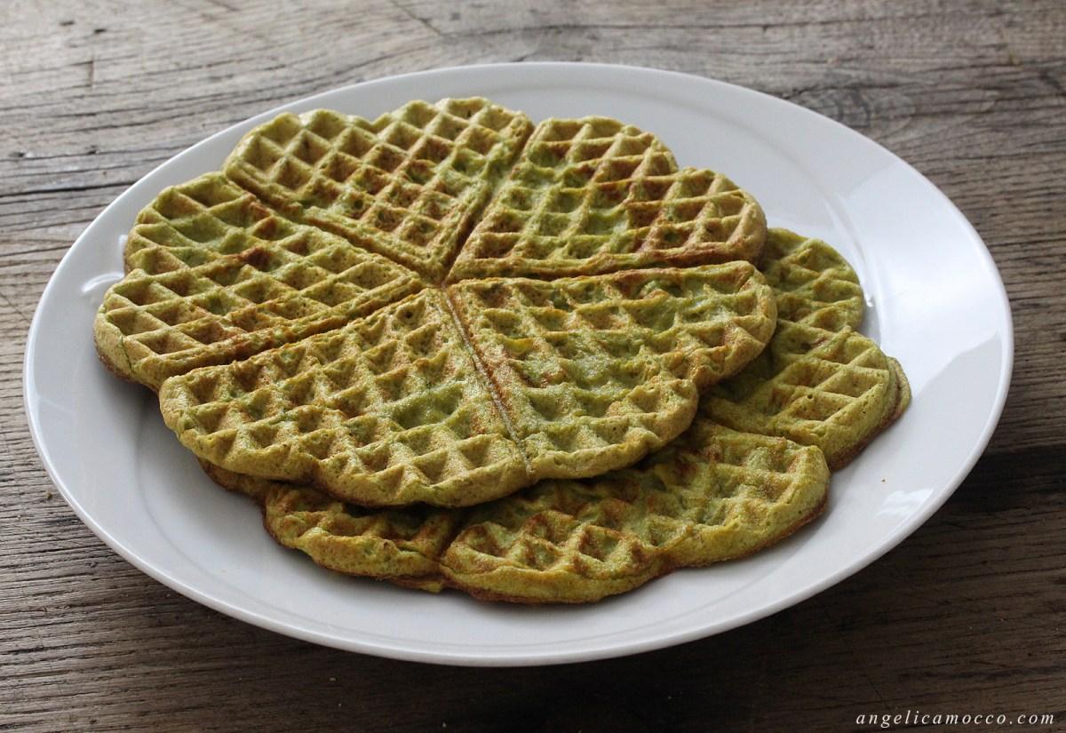 Waffle agli asparagi senza glutine