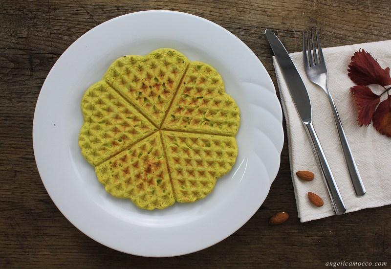 waffle di farina di piselli senza glutine