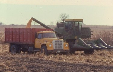 I rented hundreds of neighboring acres, raised corn, wheat, soybeans, hay.