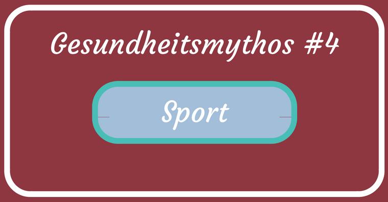 """Gesundheitsmythen – abgeklopft und auf den Zahn gefühlt – Teil 4 """"Sport ist Mord"""""""