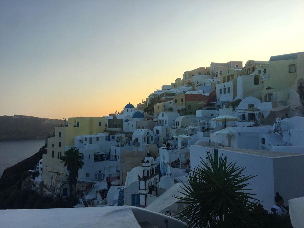 santorini beyond sunsets