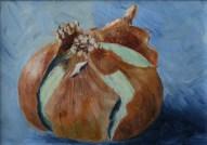 """Onion"" 5x7 Acrylic on Panel"