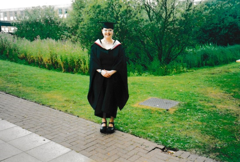 In my graduation gown