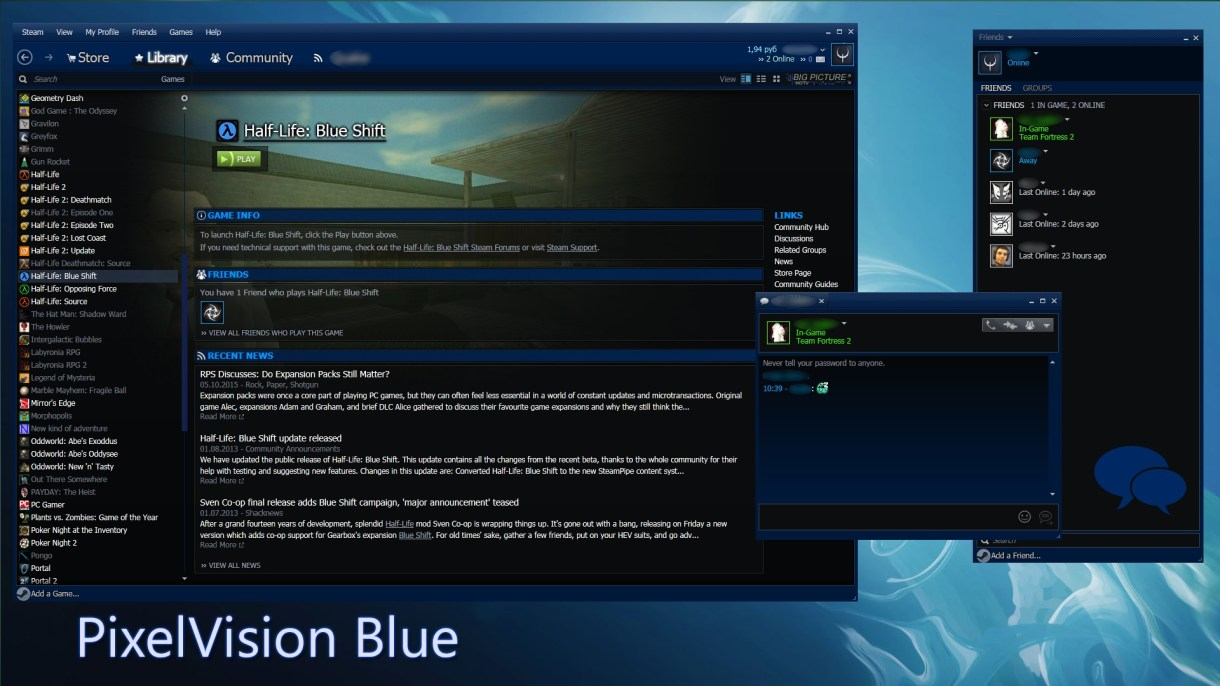 Pixelvision Steam Skin