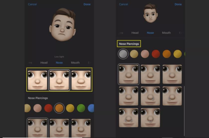 how-to-customize-your-iphones-memoji-nose-tab