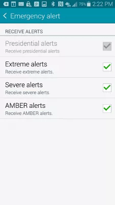 how to turn off emergency alerts on galaxy s5 2021