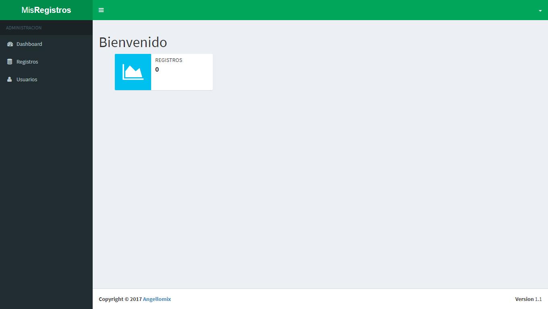 sistema registro web
