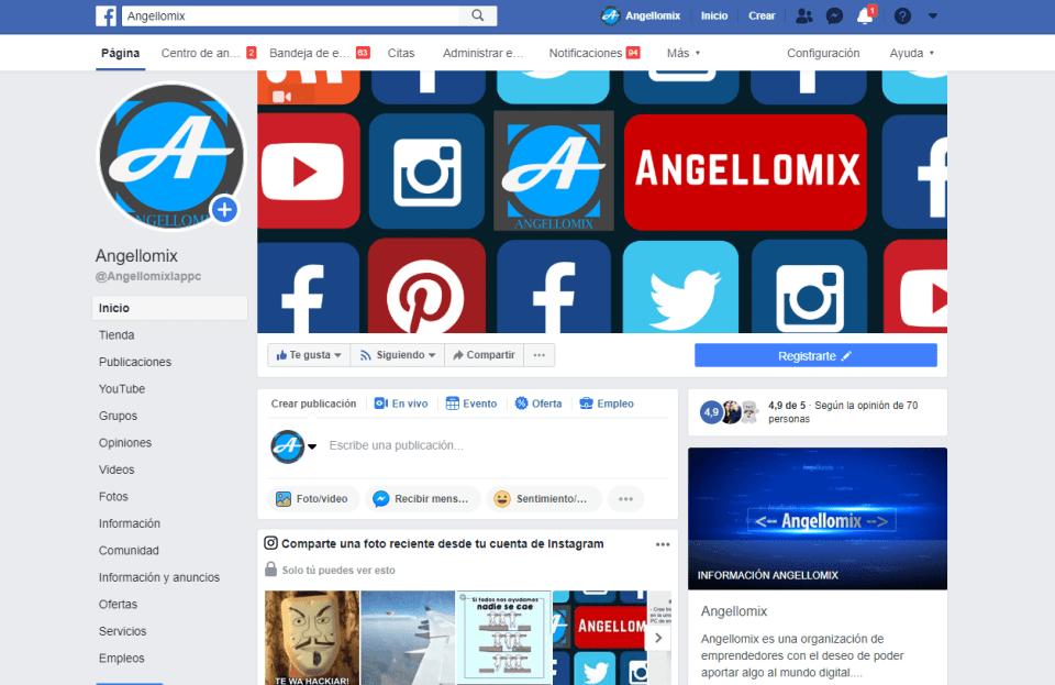 1 twiter en facebook