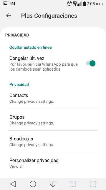 Ultima actualizacion de whatsapp plus 2019 whatsapp plus 8.10 noviembre 2019 4
