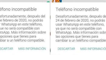 cuales celulares ya no son compatibles con whatsapp en 2020