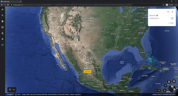 medir distancias en metros y kilometros con google earth min