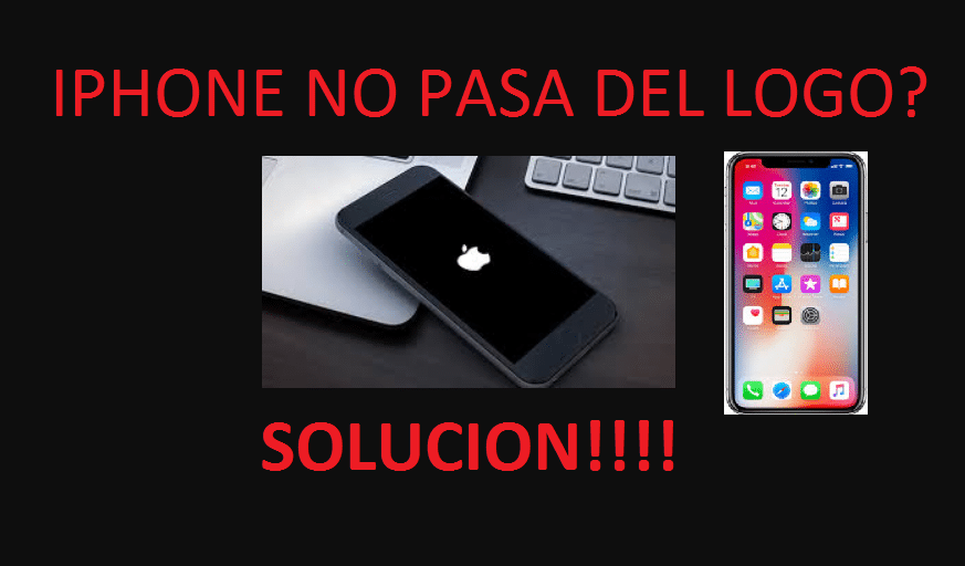 Revivir iphone no prende, iphone no pasa del logo, iphone pantalla negra