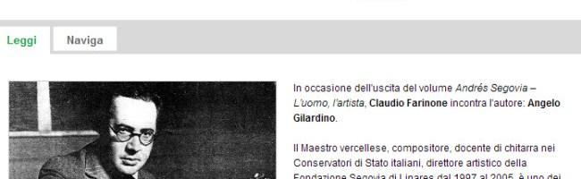 Radio Svizzera Italiana – Rete 2 – Andrés Segovia – L'uomo, l'artista