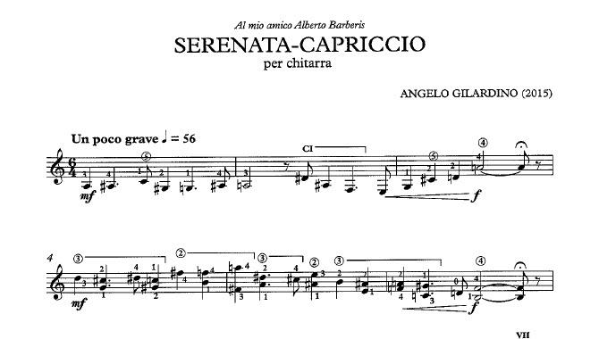 Serenata Capriccio Gilardino