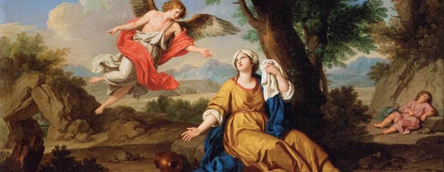 Ismael_-El-Angel-anunica-a-Agar-que-Ismael-será-el-padre-de-una-gran-nación_-Giuseppe-Bottani-1776