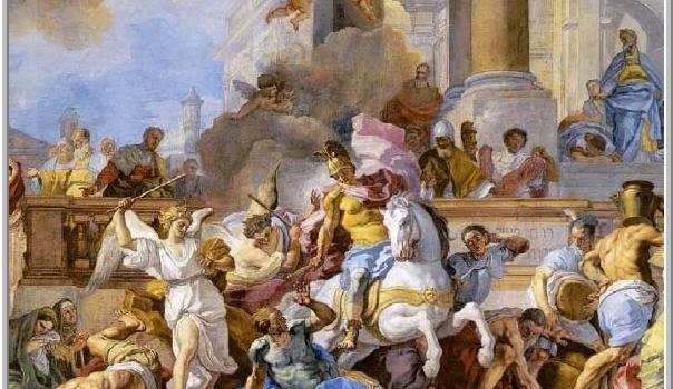 Macabeos derrotan rey Helliodoro que atacaba templo de Jerusalen