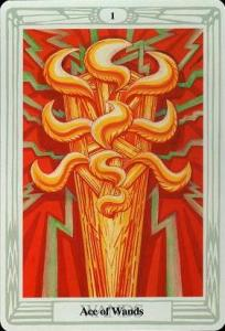 Ace of Wands, Thoth Tarot