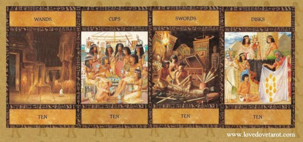 The Tarot 10's - Ancient Egyptian Tarot