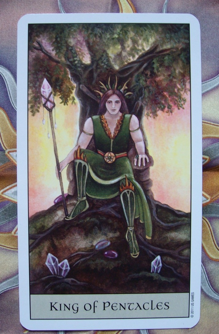King of Pentacles - Crystal Visions Tarot