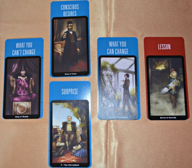 First Aid Tarot Spread with Deck of 1000 Spreads and Steampunk Tarot