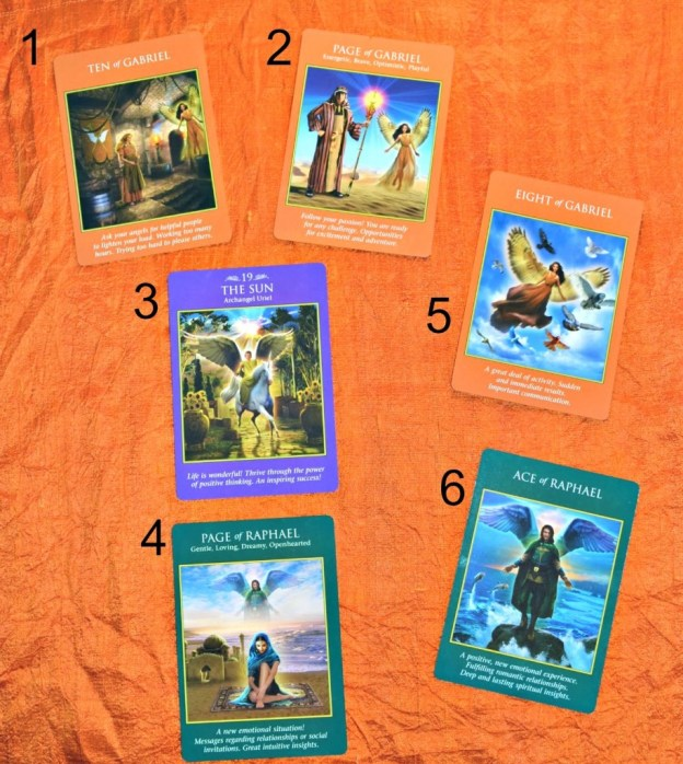 deck interview with the archangel power tarot cards
