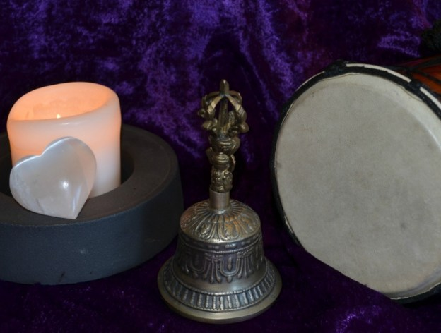 picture of tibetan ritual bell sound healing