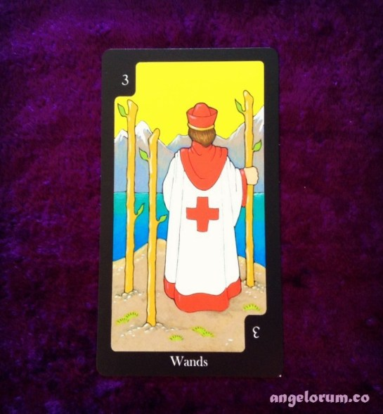 3 of Wands from the Hallmark Tarot