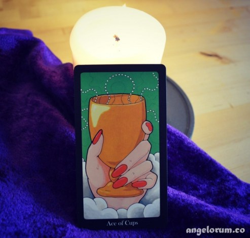 Ace of Cups from the Hallmark Tarot