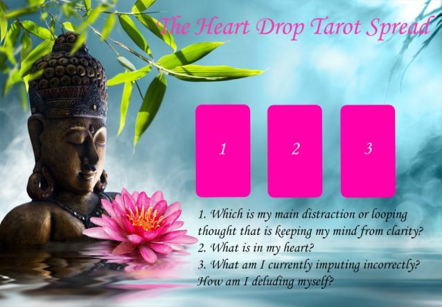 heart drop tarot spread