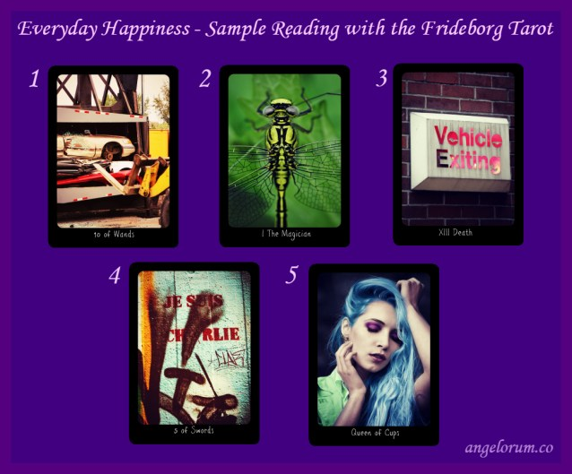 The Everyday Happiness Tarot Spread Sample Reading with the Frideborg Tarot