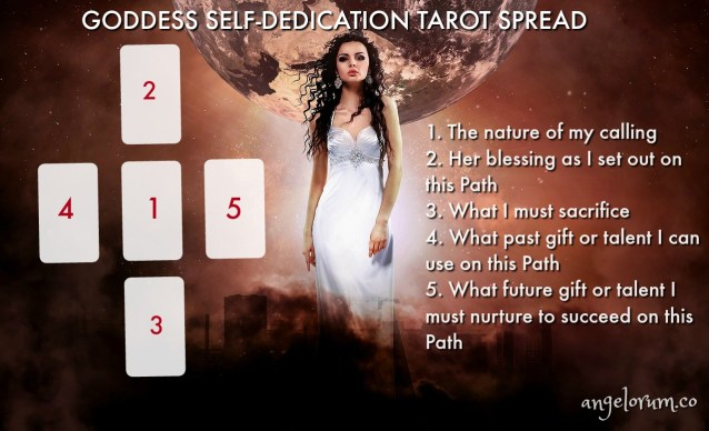 goddess self-dedication tarot spread