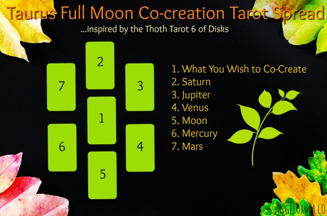 Taurus Full Moon Tarot Spread for Co-creation