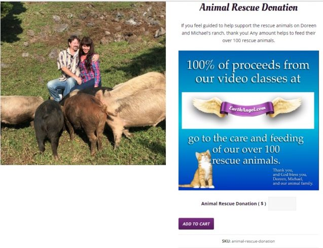 doreen virtue animal rescue donation page earth angel site