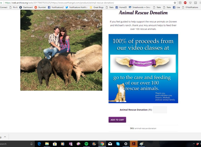 doreen virtue animal charity scam donation page earth angel site